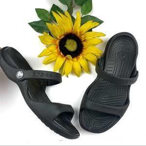 ❌SOLD❌ Crocs Cleo Rubber Sandals 2 Strap Slip On